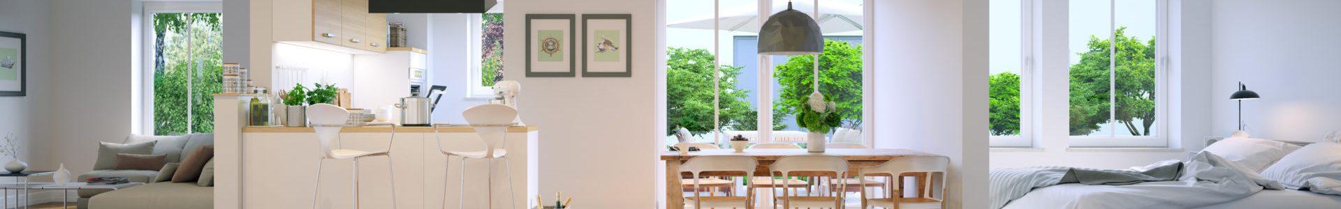 panoramablick in Neubau Apartment